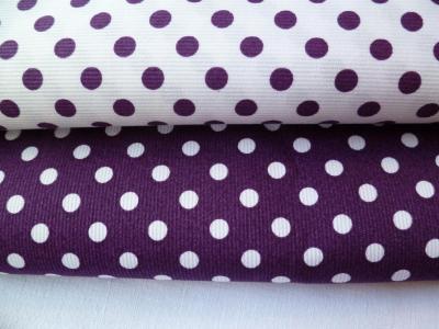 Tissu Piqué de Coton à Pois Coupon 50x75cm