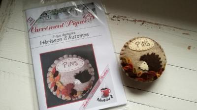 Kit Pique épingles  Hérisson d'Automne - Carrément Piquée