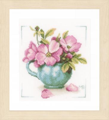 Kit Fleurs roses Lanarte PN-0164070