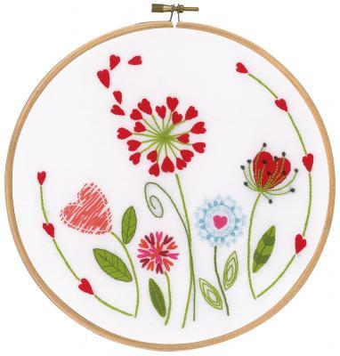 Kit à broder - Fleurs avec cercle à broder Vervaco PN 0171229