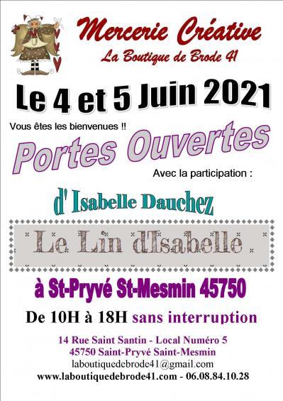 Portes ouvertes 4 et 5 juin 2021 avec le lin d isabelle