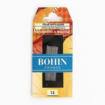 Aiguille à coudre appliqué n°12 Bohin