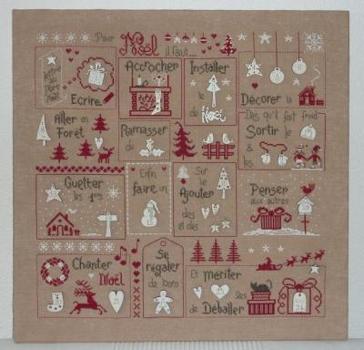 Semi kit Pour Noël, il faut... Version Rouge PR 13 Jardin Privé