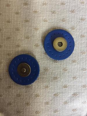 Pression Aimantée Cuir bleu pour Sac
