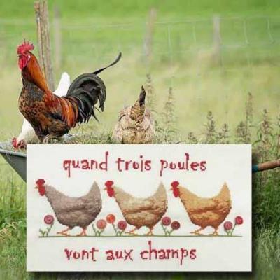 Quand trois poules... N° 1095 Au Fil de Martine