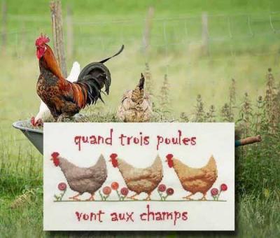 Quand trois poules 1095 au fil de martine