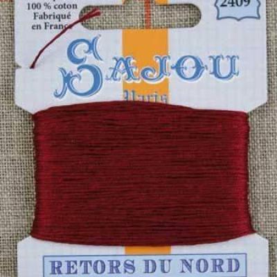 Fil à broder Retors du Nord Sajou carte 20 m - n°2409 Bordeaux