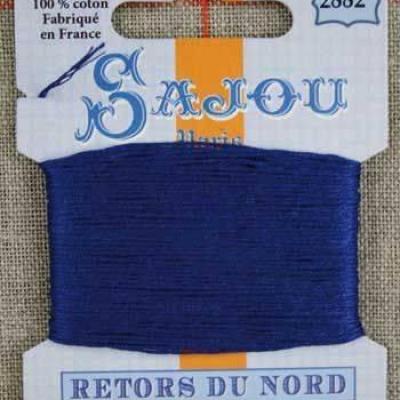 Fil à broder Retors du Nord Sajou carte 20 m - n°2882 Saphir