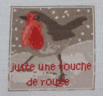 Rouge oiseau n° 848 Au Fil de Martine