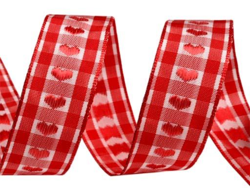 Ruban coeur rouge
