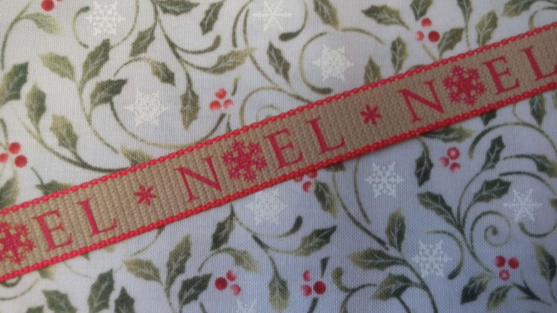 Ruban noel rouge 3