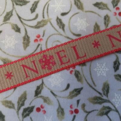Ruban Noel Rouge 15mm