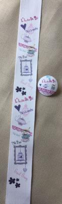Ruban Message 'Thé Rose' 4cm