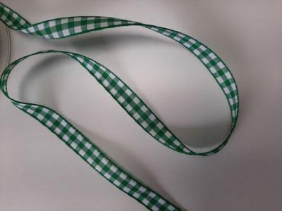 Ruban Vichy Vert et Blanc Réversible