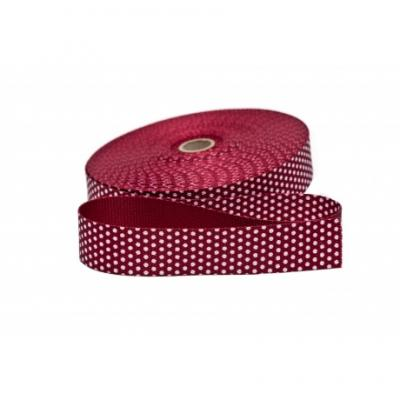Sangle avec Pois en Nylon Bordeaux 30mm