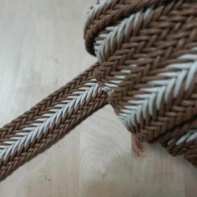 Sangle Tressée Bicolore Beige Blanc 35mm
