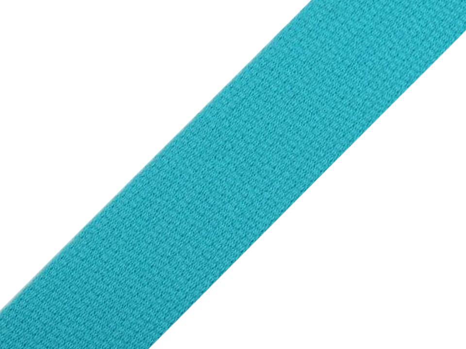 Sangle en coton bleu turquoise 30mm