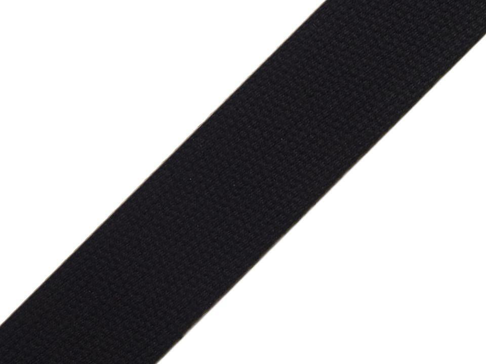 Sangle en coton noir 30mm