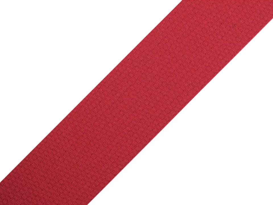 Sangle en coton rouge 30mm