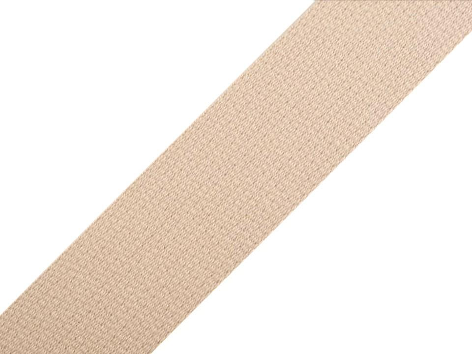 Sangle pour sac en coton creme 30 mm