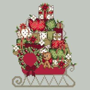 Santa's Sleigh 'Le traineau du père Noël' Shannon Christine Designs