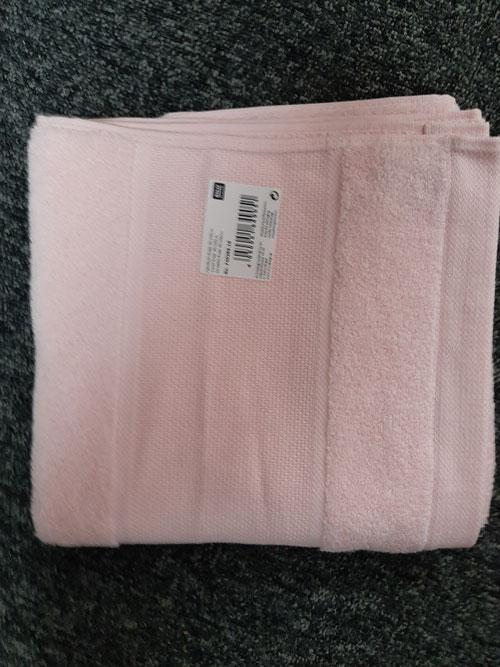 Serviette rose 50x100 rico