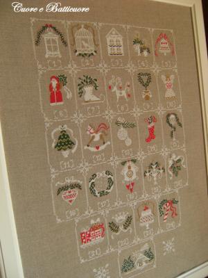 Shabby Advent Calendar Cuore e Batticuore