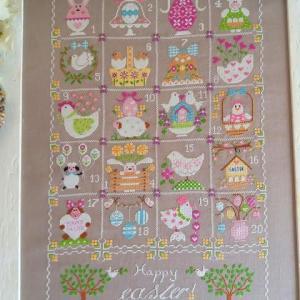 Shabby easter calendar cuore e batticuore 1