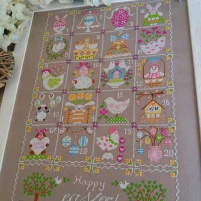 Shabby Easter Calendar Cuore e Batticuore