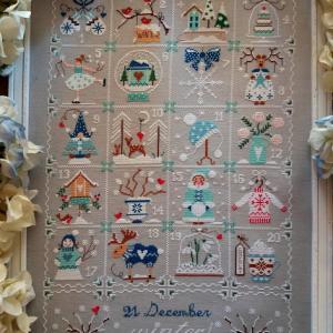 Shabby winter calendar 3