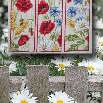 Les signets 'Fleurs des champs' 1069 Au Fil de Martine