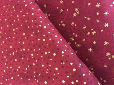 Tissus Patchwork Stof Christmas Red Gold 4596-411