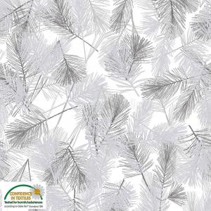 Stof christmas wonders white branches 4596 106