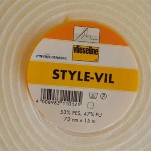 Style vil blanc vlieseline 72cm 1