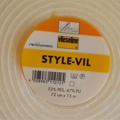 STYLE-VIL Entoilage mousse Blanc Vlieseline 72cm