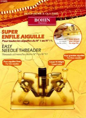Super enfile aiguille Bohin n°1 à n°11 Réf. 81980