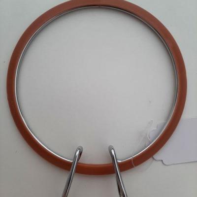 Tambour métal à Broder Marron 13cm