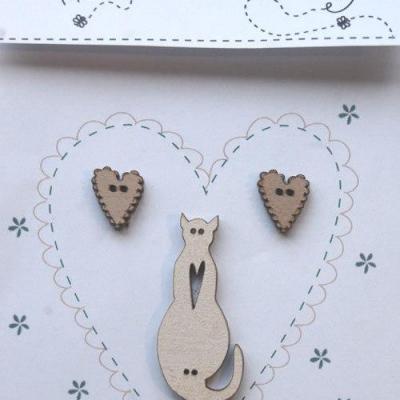 Coeurs lin et chat lin TB2C