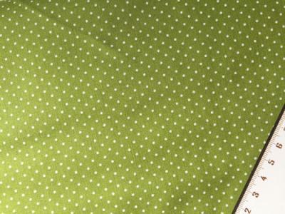 Tissu à Pois Blanc Fond Vert