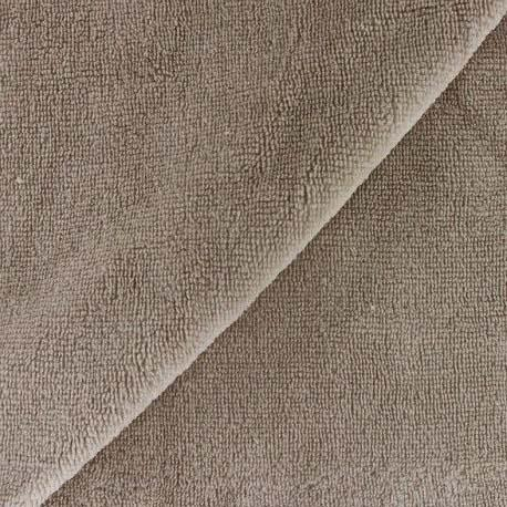 Tissu eponge bambou taupe