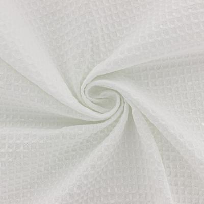 Tissu en Nid d'Abeille Blanc