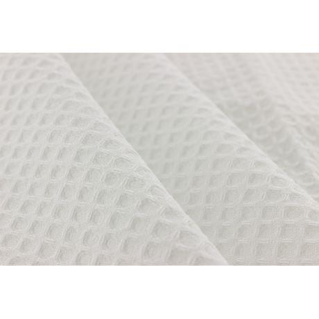 Tissu eponge nid d abeille blanc 2