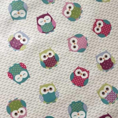 Tissu Fryett's enduit owls chouettes