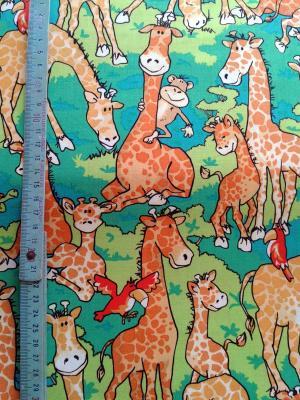 Tissu Patchwork Girafe