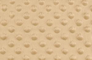 Tissu minky a pois beige