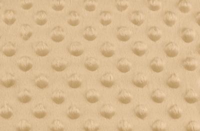 Tissu Minky à Pois Beige