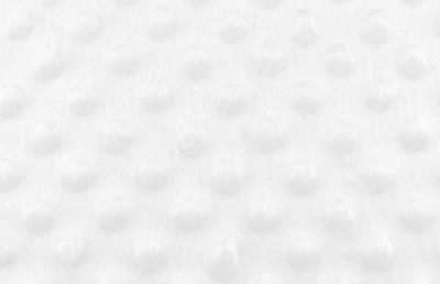 Tissu Minky à Pois Blanc