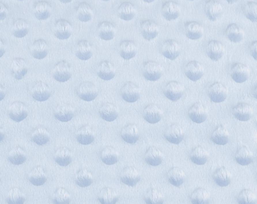 Tissu minky a pois bleu clair