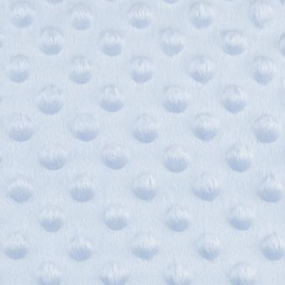 Tissu Minky à Pois Bleu Clair