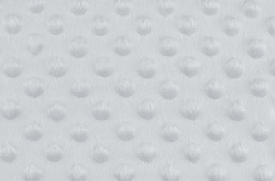 Tissu Minky à Pois Gris